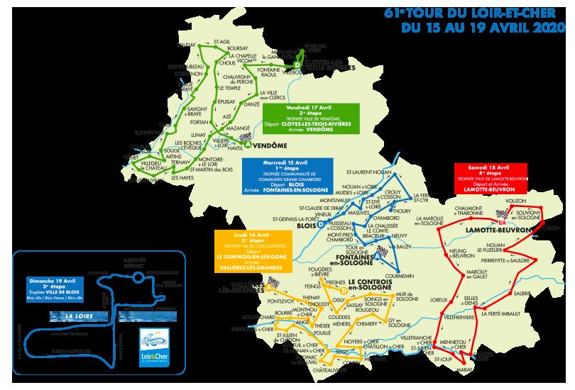 Parcour du Tour du Loir-et-Cher 2020